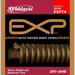 D'Addario EXP74 Coated Комплект струн для мандолины